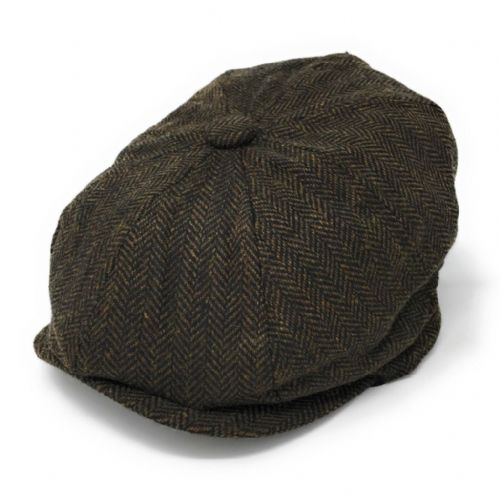 7cc0ac91ff0 8-piece cap with elastic back. Herringbone. Wool Blend